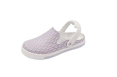 Anywear Women's Range Health Care Professional Shoe, Geometric/White, 5.0 Medium US