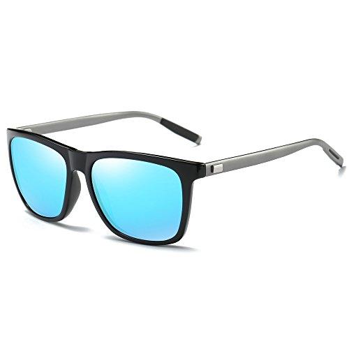 MOTELAN Polarized Sunglasses for Men Women Driving Fishing Vintage Glasses UV400 Blue