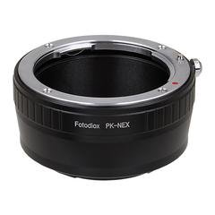 Fotodiox DLX Stretch Lens Mount Adapter - Pentax K Mount (PK) SLR Lens to Sony Alpha E-Mount Mirrorless Camera Body with Macro Focusing Helicoid and Magnetic Drop-In Filters by Fotodiox
