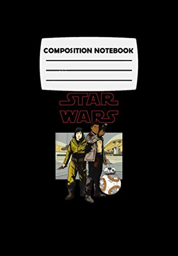 Composition Notebook: Star Wars Last Jedi Rose Finn BB-8 Comic Premium, Journal 6 x 9, 100 Page Blank Lined Paperback