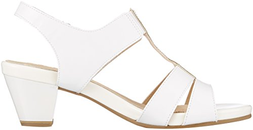 Sling Back CAPRICE Women''s White White Sandals Patent 28208 123 4qCfwU