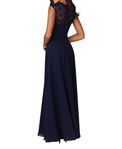 Brautjungfernkleider Abschlussballkleider Abendkleider Brau 2018 La Promkleider A Langes mia Linie Chiffon Grün 4wqCqv0