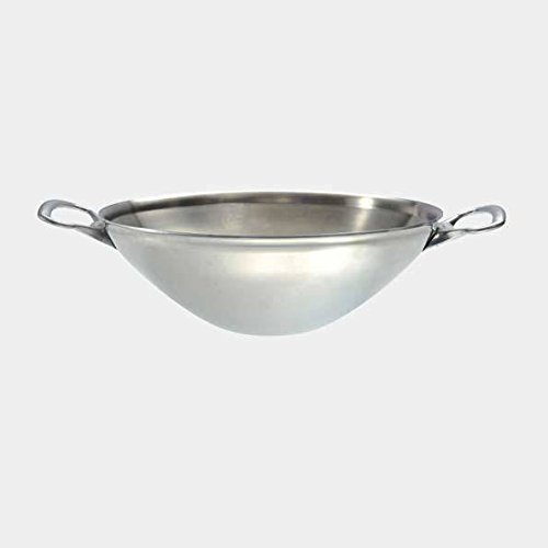 De Buyer Professional 32 cm Stainless Steel Affinity Authentic Wok with Two Handles 3743.32 by de Buyer Professional