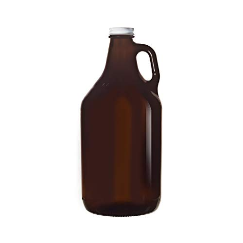 Libbey 70217 Amber Glass 64 Ounce Beer Growler - 6 / CS