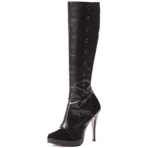 High Heel Stiefel von Leg Avenue 5022 Buttons, Schwarz, 40 EU