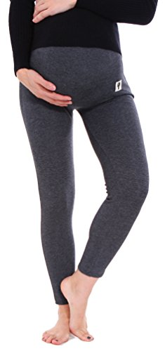 Simplicity Maternity Thick Opaque Stretch Legging Pants, Dark Grey