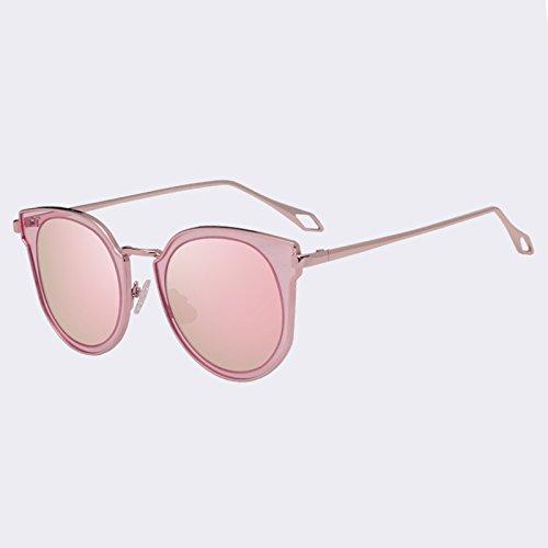 de de C02Rosa parcial TIANLIANG04 Gafas clásico sol Gafas UV400 Ojo manera de de de espejo Gato mujeres lentes C02Pink gafas las de gafas de estilo sol S6XX5q