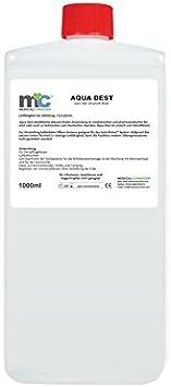 Agua destilada Aqua Dest – Botella de 1000 ml, no esterilizada y microfiltrada, agua de laboratorio: Amazon.es: Salud y cuidado personal