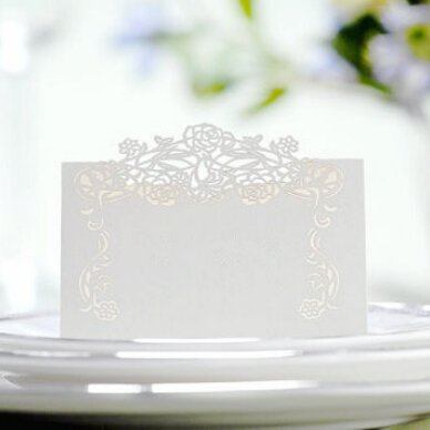 ut Flower Vine Pattern Paper Card Marriage Party Banquet Place Card Table Number Name Holder (Vine Place Card)
