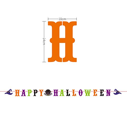 Hanging Banners, Halloween Funny Plug Flags, Cute Halloween Decorations for Home Bar School by Fokine ()