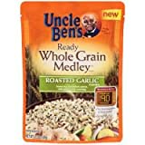 Uncle Bens Whole Grain Medley Roasted Garlic Ready Rice, 8.5 Ounce - 12 per case.