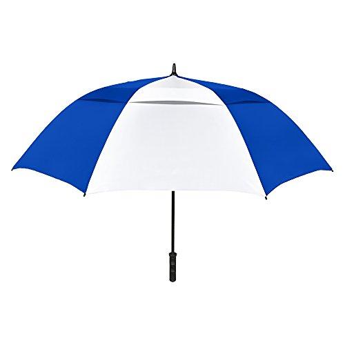StrombergBrand The Vented Tornado Golf Umbrella Royal Blue/White