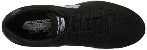 Skechers SynergyFine-Tune - zapatilla deportiva de lona hombre Negro (Bkw)