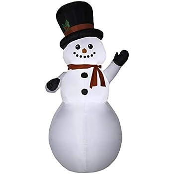Amazon.com: Gemmy - Muñeco de nieve hinchable de Navidad ...