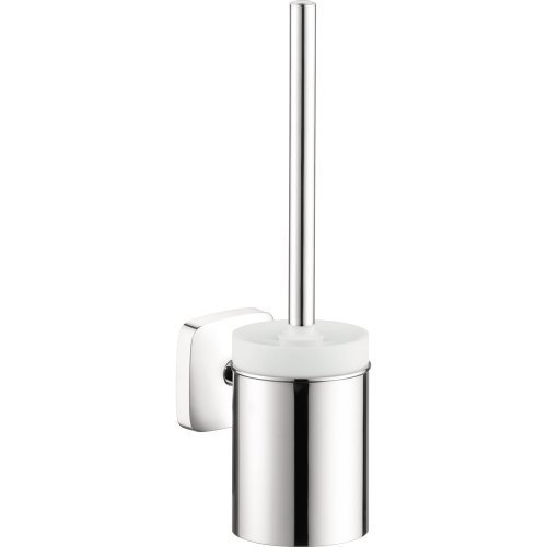 Hansgrohe 41505000 Puravida Toilet Brush with Holder, Chrome (Chrome Hansgrohe Accessories)