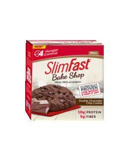 Slimfast Bake Shop Meal Replacement High Protein Double Chocolate Chip Cookie 2.3 oz-Pack of 16