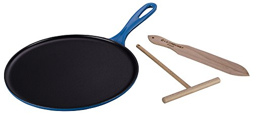 Enameled Cast-Iron 10-2/3-Inch Crepe Pan, Marseille