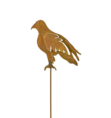 Eagle Metal Yard and Garden Stake, Yard Art, Patio Decor