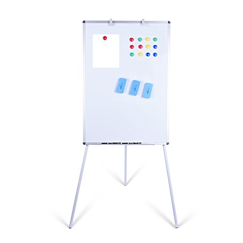 Dry Erase Easel - 24 × 36 Magnetic Dry Erase Board with Stand Adjustable Height, Smooth, No Dazzling & Durable Surface, Lightweight & Portable Tripod Whiteboard, Versatile Dry Erase Whiteboard Easel