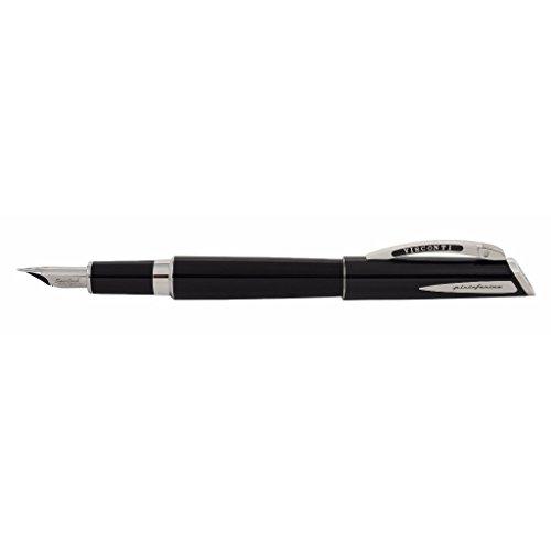 Visconti Pininfarina Regular Fountain Pen Black Tubular - Medium nib by Visconti