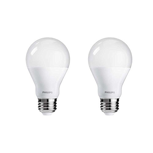 Philips Hue White A19 2-Pack 60W Equivalent Dimmable LED Smart Bulb (Compatible with Amazon Alexa, Apple HomeKit, and Google Assistant) (Certified Refurbished)