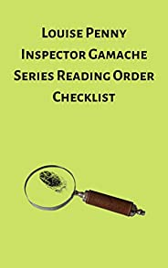 Louise Penny Inspector Gamache Series Reading Order Checklist