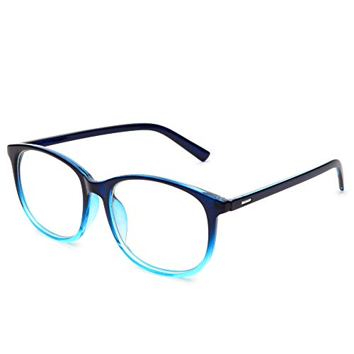Jcerki Oversize Frame Nearsighted Glasses-2.00 Strength Short Sighted Men and Women Lightweight Myopia Spectacles **These are not Reading ()