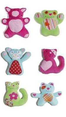 Burda 9637 Cuddly BABY toys BUNNY, CAT, DOG, PIG (8 STYLES) SEWING PATTERN