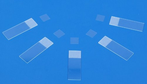 OMAX 100 Piece Blank Glass Frosted Slides and 100 Piece Cover Slips