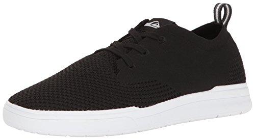 Quiksilver Herren Shorebreak Stretch Knit Sneaker Schwarz / Schwarz / Weiß