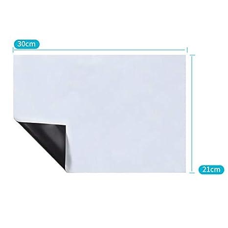 wqeew - Pizarra magnética (A3, A4, con imán), Color Blanco, A4