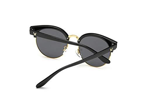 Conductor Gafas Conducción Negro Conducir Redonda Marea De Cara Sol Marco liwenjun Polarizada Gris Gafas Película Retro UV Sol De De Gafas Polarizador qWUBt74