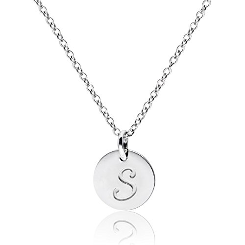 (Three Keys Jewelry Stainless Steel Silver Tone Initial Alphabet 0.4