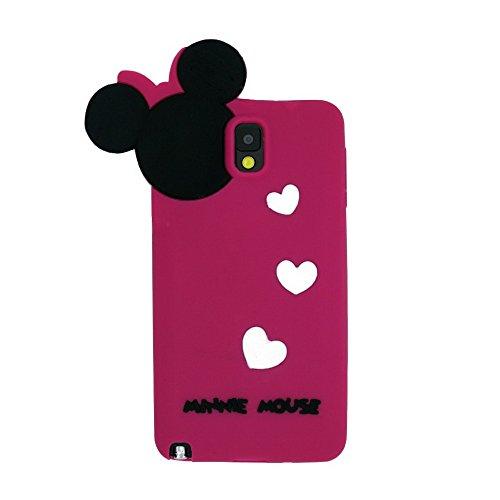 ecenter Fucsia Minnie Mickey Mouse suave piel funda Cover Carcasa ...