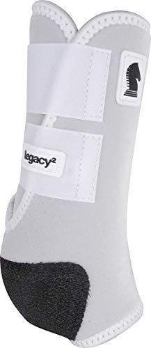 Classic Equine Legacy2 System Front Boot (Solid), White, ()