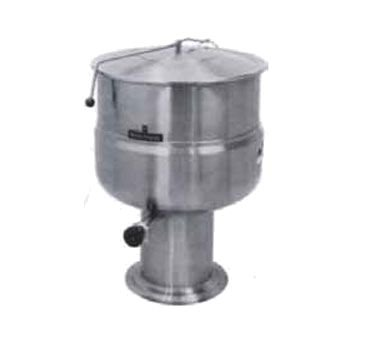 Market Forge F-80P Stationary Direct Steam Kettle with 80 Gallon Capacity & Pedestal Base