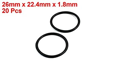 20pcs 26mm x 22.4mm x 1.8mm Rubber O Ring Oil Seal Gasket Replacement