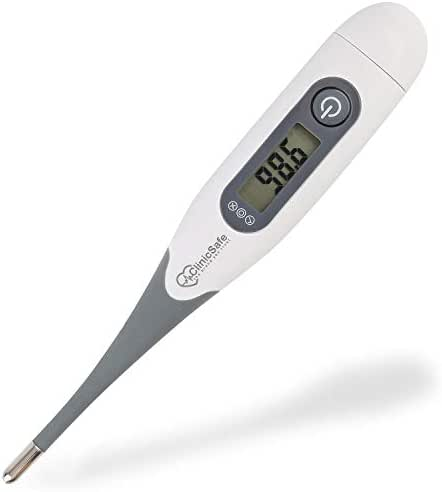 Digital Medical Oral Thermometer for Fever - Baby Kids and Adults - Accurate and Fast 10 Sec Reading - Rectal and Armpit Temperature Termometro for Infant Children and Babies with Fever Indicator