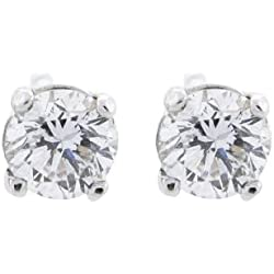 14K Gold Diamond Stud Earrings Round Brilliant Earth-mined (G,SI) Extra-Ordinary Quality
