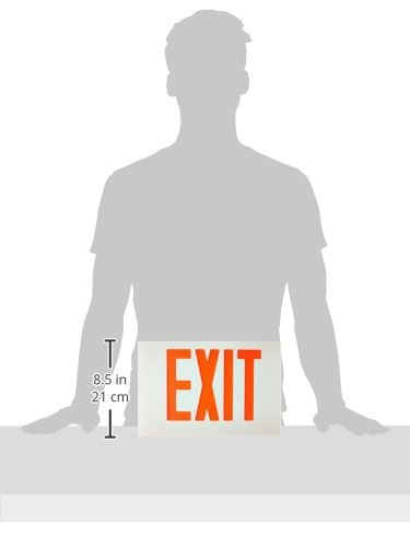 Used with Model 73348 White Face Color Morris Products 73382 Cast Aluminum LED Exit Sign Face Plate Red Letter Color