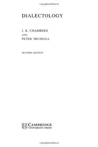 Dialectology (Cambridge Textbooks in Linguistics) Pdf