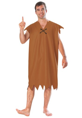 Barney Rubble Adult Costume - X-Large - Deluxe Adult Caveman Costumes