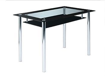 Glastisch schwarz  Glastisch, Tisch, Esstisch, Esszimmertisch, Küchentisch ...