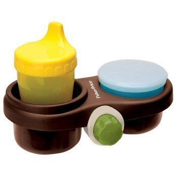 Fisher Price Travel Care Snack Pod (Brown) with Bonus Cup