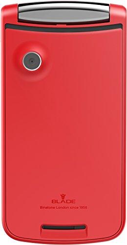 5015b1333bf Binatone Blade Flip Phone - Teléfono móvil Dual Sim, Bluetooth, Cámara,  USB, Radio FM, sin Dispositivo de Seguridad, teléfono móvil en diseño  Retro, ...