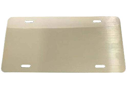 SILVER - Aluminum Blank License Plate - 12x6 .040 Gauge (1mm) - Laser Cut - MADE IN USA ()