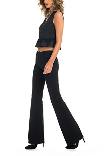 Salsa - Top peplum avec col en V zippé et détail dentelle - Femme