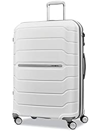 Freeform Hardside Expandable with Double Spinner Wheels, White, Checked-Large 28-Inch