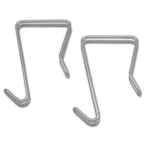 Single Sided Partition Garment Hook, Silver, Steel, 2/PK, Sold as 2 (Single Sided Hook)
