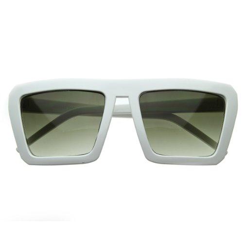 zeroUV - Geometric Bold Flat Top Retro Celebrity Inspired Super Square Sunglasses - Celebrities Sunglasses Super
